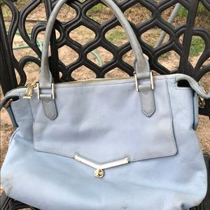 BOTKIER BLUE LEATHER HAND BAG TOTE